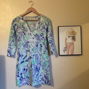 Lilly Pulitzer Marina Dress Lilac Nice Ink